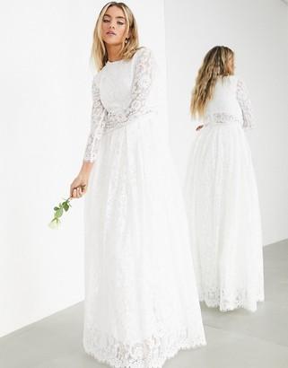 ASOS EDITION Grace lace crop top wedding dress