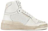 Saint Laurent High Top Sneakers in White   FWRD