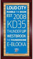 "Steiner Sports Oklahoma City Thunder 32"" x 16"" Vintage Subway Sign"