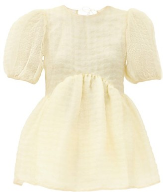 Cecilie Bahnsen Kastanje Puff-sleeved Organza Blouse - Yellow