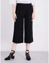 Topshop Sasha wide-leg cropped crepe trousers