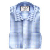 Thomas Pink Summers Check Classic Fit Double Cuff Shirt