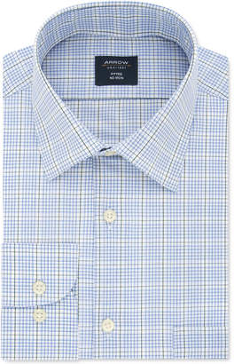 Arrow Men Athletic-Fit Windowpane Dress Shirt