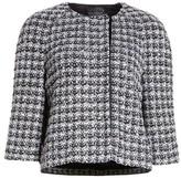 St. John Women's Metallic Plaid Tweed Jacket