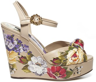 Dolce & Gabbana All Over Floral Print Wedges