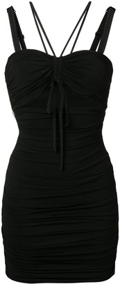 Dolce & Gabbana Ruched Cut-Out Dress