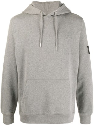 Calvin Klein Jeans Logo-Patch Hooded Sweatshirt