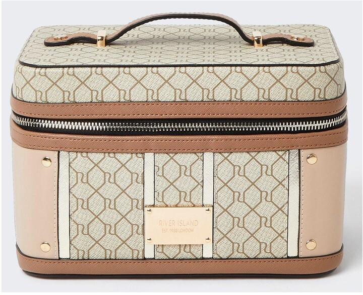 Thumbnail for your product : River Island Mongram Brown Vanity