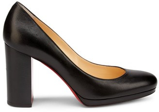 Christian Louboutin Kabetts Platform Leather Pumps