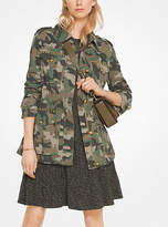Michael Kors Studded Camouflage Cotton-Poplin Jacket