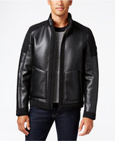 MICHAEL Michael Kors Big and Tall Faux-Leather Faux-Shearling Jacket