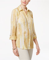 JM Collection Printed Crinkled Shirt, Created for Macy's