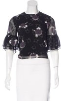 Rebecca Minkoff Printed Short Sleeve Blouse w/ Tags