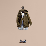 Burberry Hooded Field Jacket with Oversize Pocket Detail