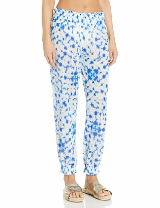 Luli Fama Women's Beautiful Mess Smocked Gypsy Pant Cover Up