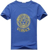 Versace Logo Men's Casual Crew Neck Cotton T Shirt
