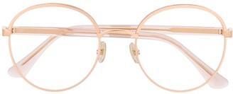 Jimmy Choo Glitter Detailed Round Glasses