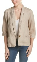 Three Dots Lore Linen Easy Blazer.
