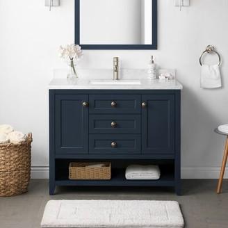 "Martha Stewart Lily Pond Granary 42"" Single Bathroom Vanity Set"