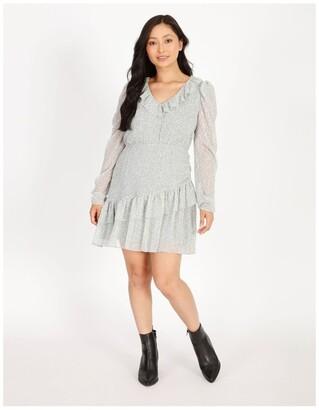 Tokito Petite Ruffle Wrap Mini Dress
