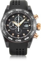 Locman Stealth 300mt Black/Gold Carbon Fiber and Titanium Quartz Movement Men's Chronograph Watch