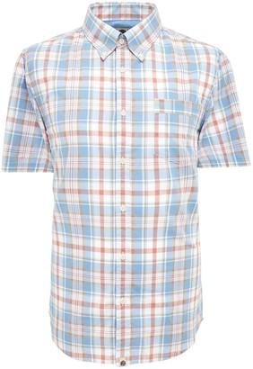 Pretty Green Check Short Sleeve Shirt - Blue