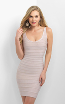 Blush Lingerie C369 Scoop Neck Fitted Cocktail Dress
