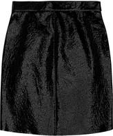 Saint Laurent Patent-leather mini skirt