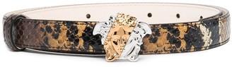 Versace snakeskin-effect Medusa-head buckle belt