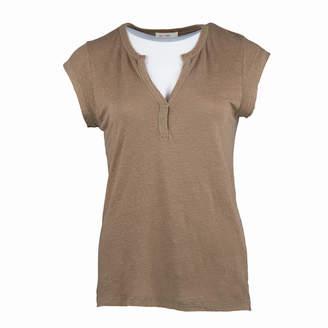 My Sunday Morning - Beca T-shirt - Camel - 1 | linen | camel - Camel