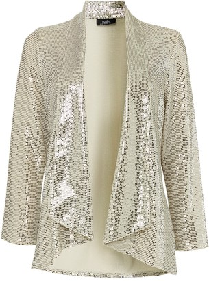 Wallis Oyster Sequin Relaxed Fit Blazer
