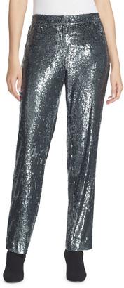Lafayette 148 New York Fulton City Sequins Straight-Leg Pants