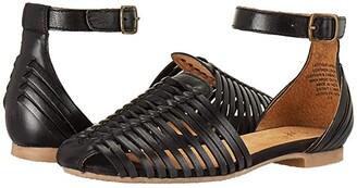 Seychelles Bits N Pieces (Black Leather) Women's Sandals