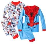 Spiderman Boys' 4-Piece Long-Sleeve Pajama Set
