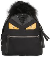 Fendi Mini Monster Backpack With Fur