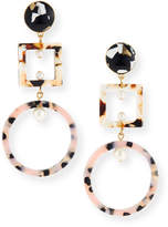 Lele Sadoughi Geometric Cage Drop Earrings