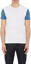 Barneys New York MEN'S COLORBLOCKED JERSEY T-SHIRT-LIGHT GREY SIZE M