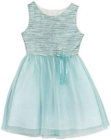 Rare Editions Turquoise Shimmer Ballerina Dress - Girls 7-16