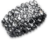 GUESS Bracelet, Gold-Tone Crystal Bubble Stretch Bracelet