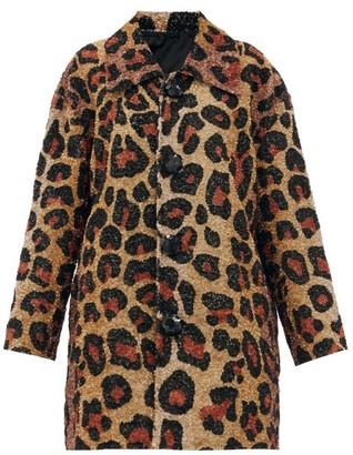 Ashish Single-breasted Leopard-pattern Sequin Coat - Leopard