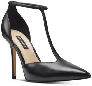 Nine West Breezy T-Strap Pumps Women's Shoes
