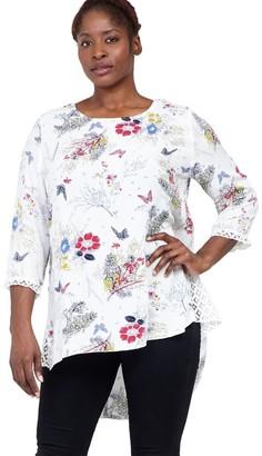 M&Co Izabel Curve floral print tunic top