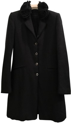 Ermanno Scervino Anthracite Wool Coat for Women