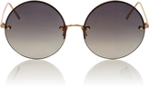 Linda Farrow Grey Frameless Circle Lens Sunglasses