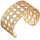 "Rebecca Seventies"" 28k Gold-Plated Glam Cuff Bracelet"