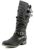 Jellypop Chandler Women Round Toe Synthetic Black Mid Calf Boot.