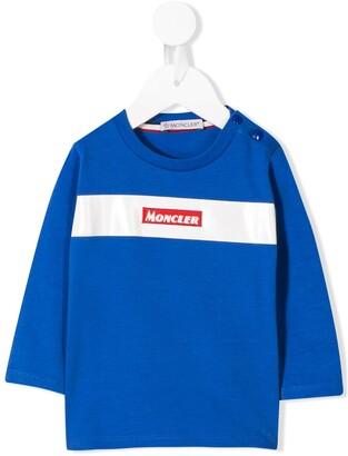 Moncler Enfant logo patch T-shirt