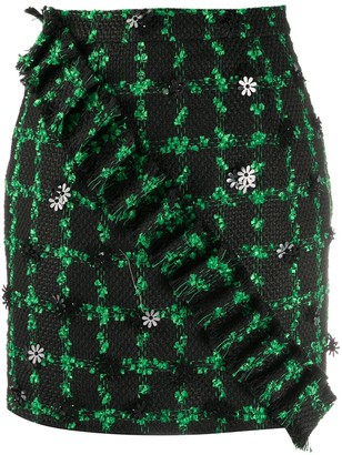 Loulou Embroidered Mini Skirt