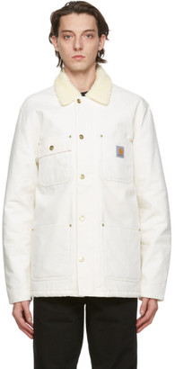 Carhartt Work In Progress White Fairmount Jacket