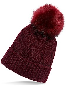 Free People Pinnacle Faux Fur Pom Pom Beanie